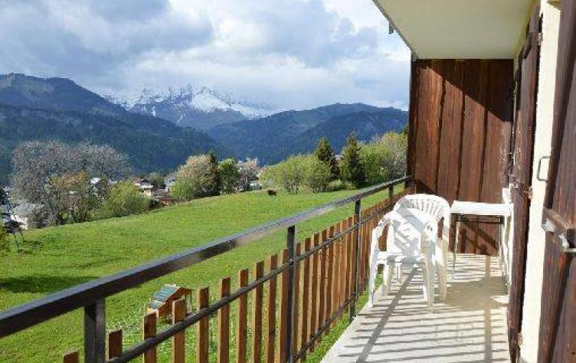 Location de vacances - Chalet à Crest-Voland - Le Fayard balcon côté Charvin