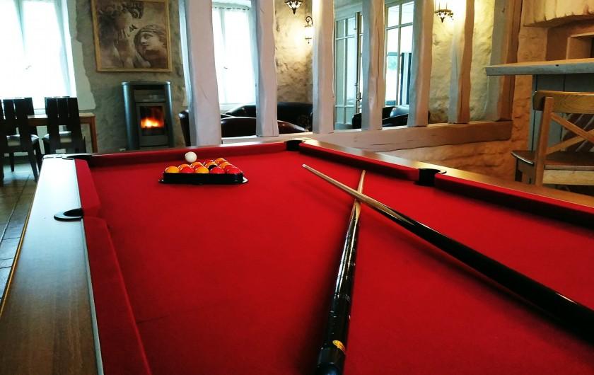 Location de vacances - Maison - Villa à Beaujeu-Saint-Vallier-Pierrejux-et-Quitteur - Billard