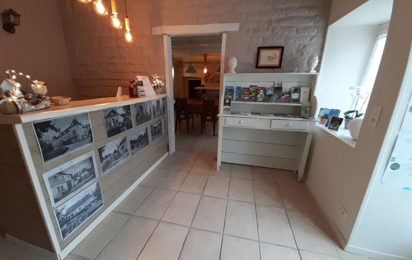 Location de vacances - Maison - Villa à Beaujeu-Saint-Vallier-Pierrejux-et-Quitteur - Coin bar- salon, TV, billard