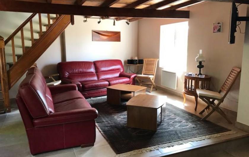 Location de vacances - Gîte à Saint-Quentin-en-Tourmont - Salon
