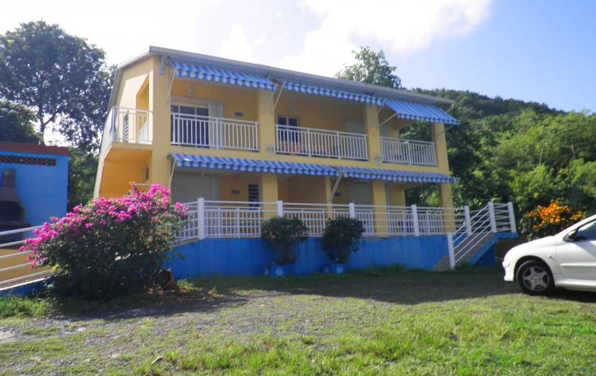 Location de vacances - Appartement à Les Anses-d'Arlet - Batterie 2, Rez de chausée 2 appartements F2 , un bel appartement F4