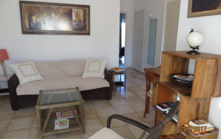Location de vacances - Villa à San-Gavino-Di-Carbini - Le coin salon