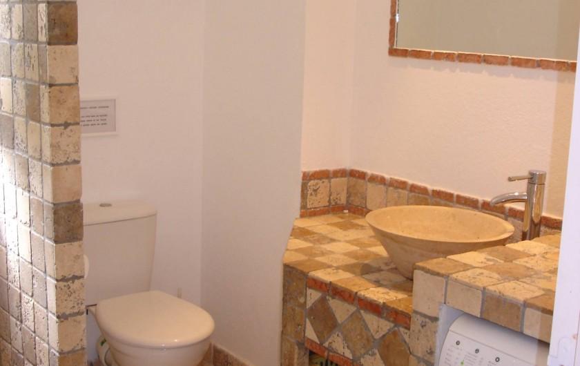 Location de vacances - Villa à San-Gavino-Di-Carbini - La salle d'eau avec sa douche à l'italienne