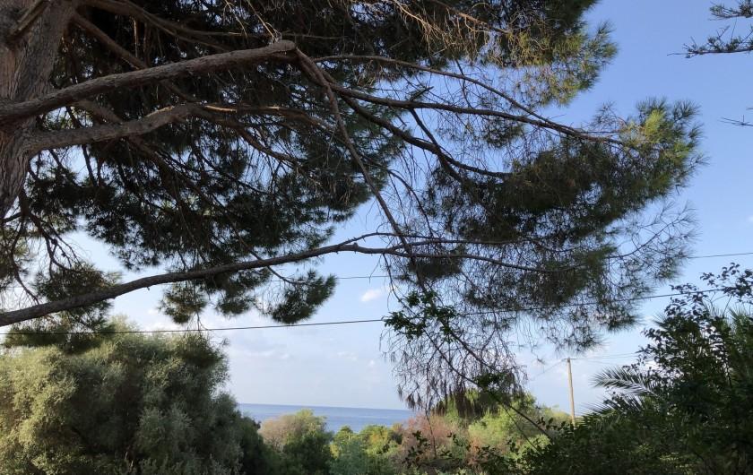 Location de vacances - Maison - Villa à Ajaccio - Vue mer depuis la maison