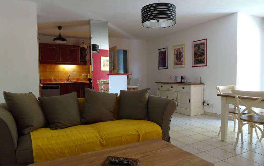 Location de vacances - Appartement à Aigues-Mortes - Salon