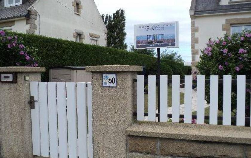 Location de vacances - Appartement à Cancale - Entrée portillon extérieur
