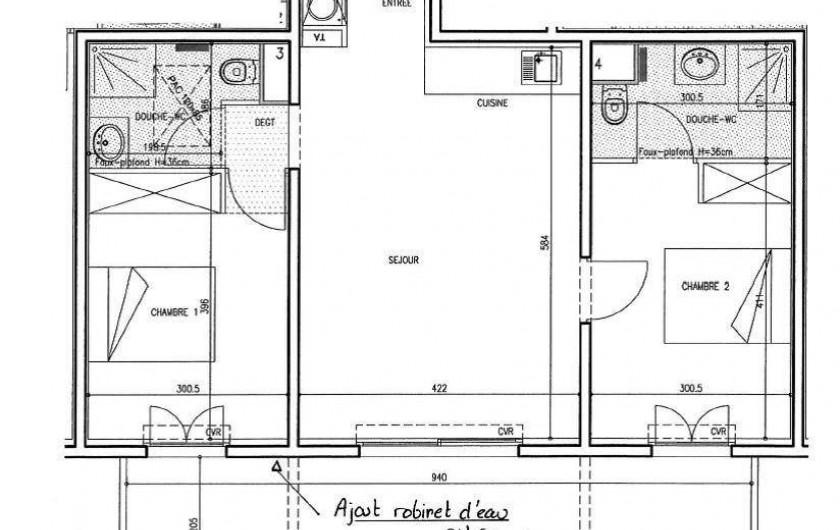 Location de vacances - Appartement à Calvi - Plan appartement