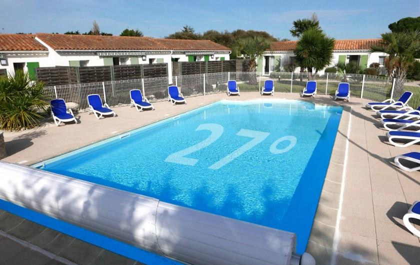 Location de vacances - Maison - Villa à Sainte-Marie-de-Ré - Piscine chauffée à 27 degrés dès le début d'avril