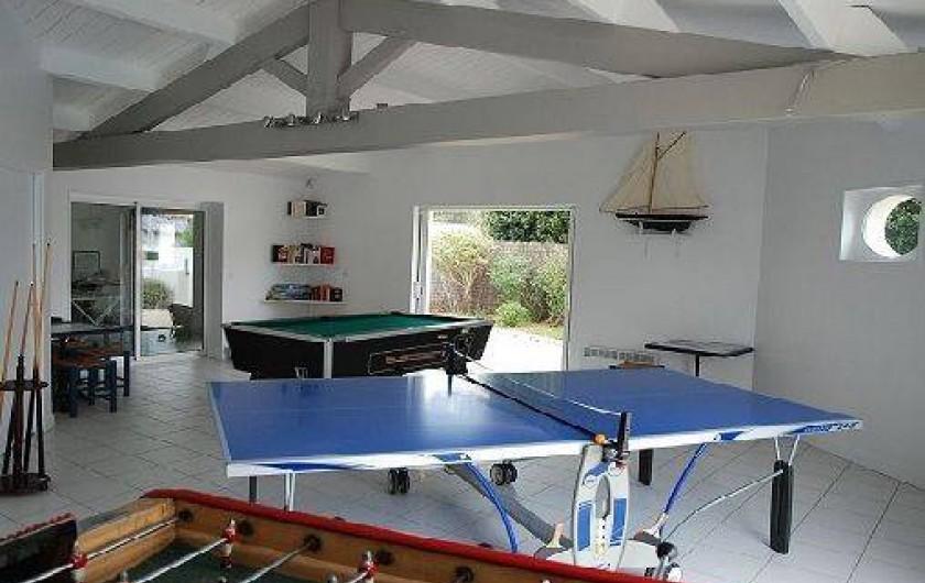 Location de vacances - Maison - Villa à Sainte-Marie-de-Ré - Salle de jeux pour le bonheur des enfants et des parents