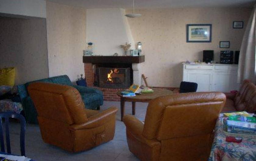 Location de vacances - Maison - Villa à Dolus-d'Oléron - salon l'hiver....