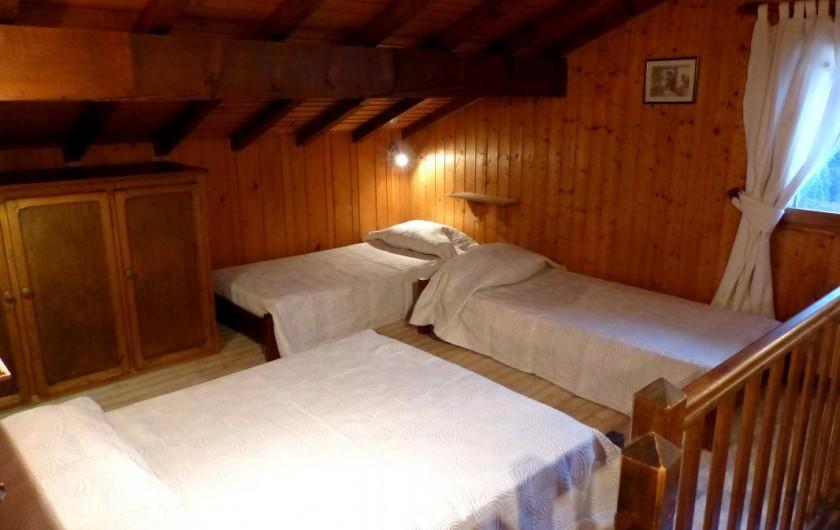 Location de vacances - Appartement à Le Grand-Bornand - 1er étage - mezzanine -  4 couchages