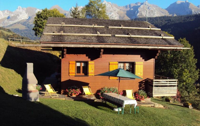 Location de vacances - Appartement à Le Grand-Bornand - terrasse extérieur - appt droit