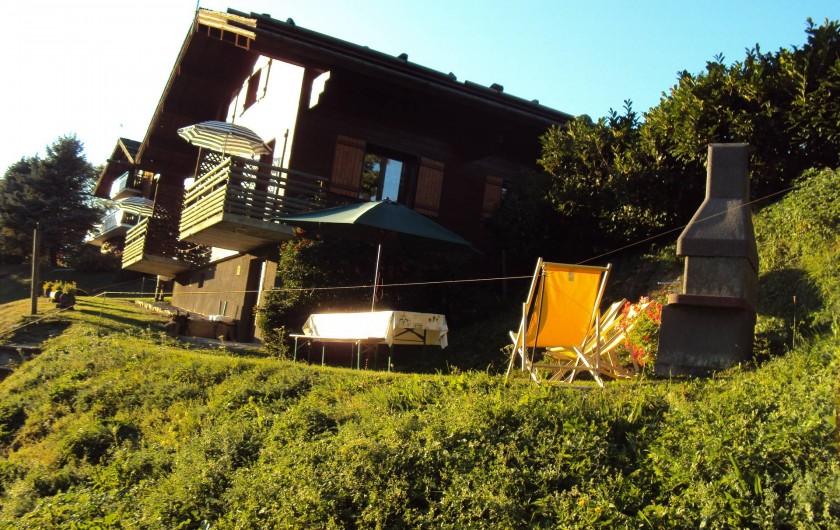 Location de vacances - Appartement à Le Grand-Bornand - terrasse extérieur - appt gauche