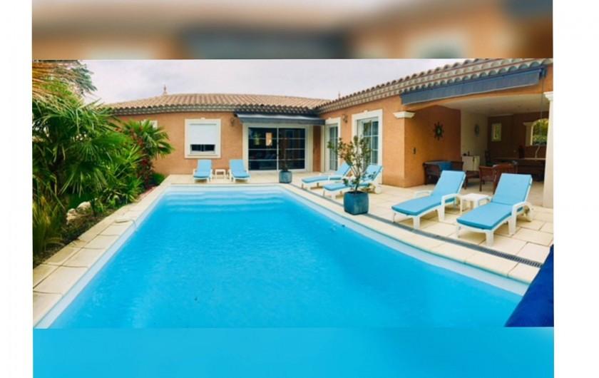 Location de vacances - Villa à Saint-Dézéry - piscine 8par4 priofondeur 1,5m