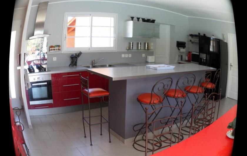Location de vacances - Villa à Saint-Dézéry - cuisine
