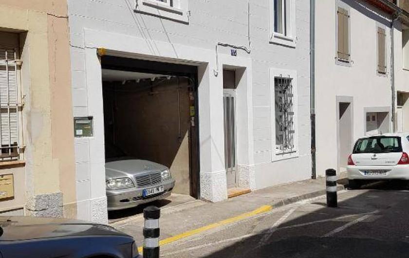 Location de vacances - Gîte à Narbonne - Garage privatif