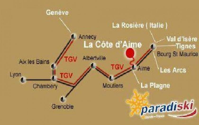 Location de vacances - Chambre d'hôtes à La Côte-d'Aime