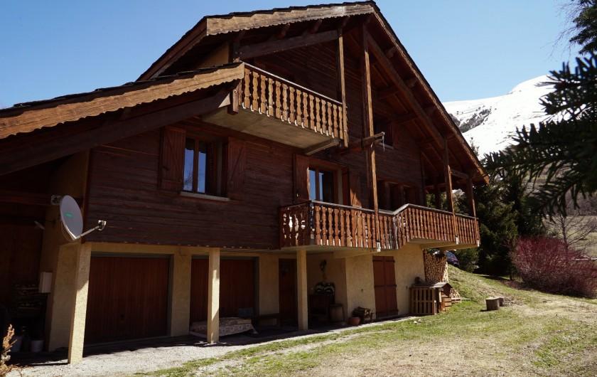 Location de vacances - Chalet à Les Deux Alpes - FACADE VUE mUZELLE