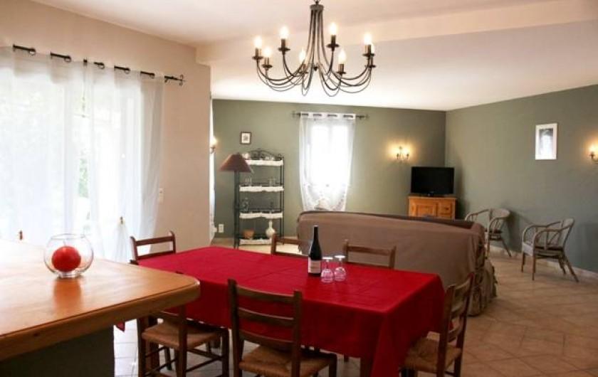 Location de vacances - Gîte à Vaison-la-Romaine - salle à manger