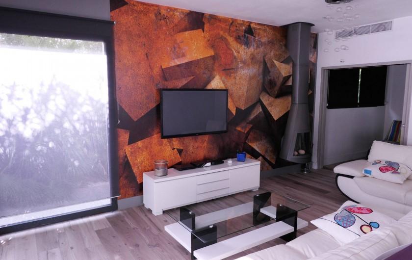 Location de vacances - Villa à Le Cap d'Agde - coin salon deux canapés, TV