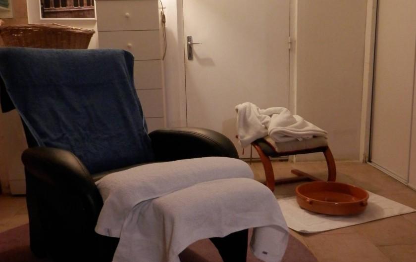 Location de vacances - Chambre d'hôtes à Faycelles - ...Et la salle de massages.