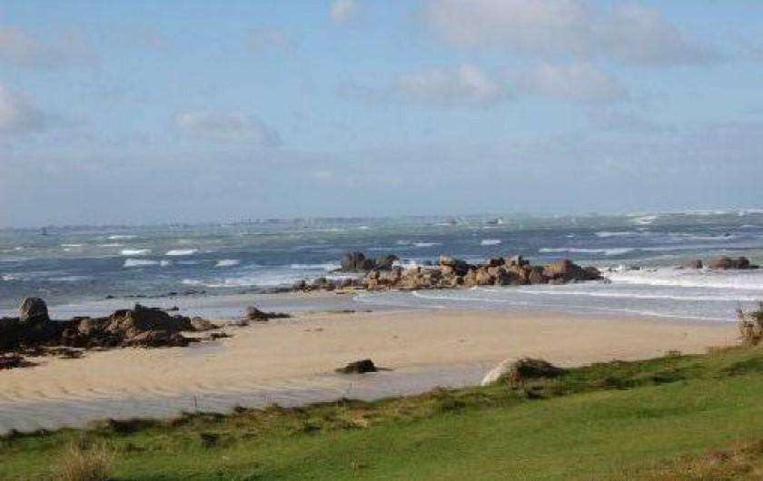 Location de vacances - Gîte à Tréflez - mer agîtée