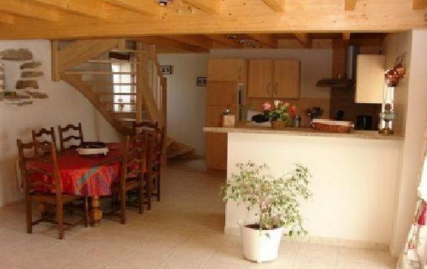 Location de vacances - Gîte à Tréflez - cuisine table restauration