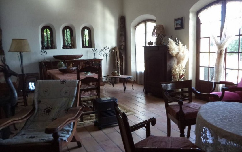 Location de vacances - Villa à Mandelieu-la-Napoule - le séjour