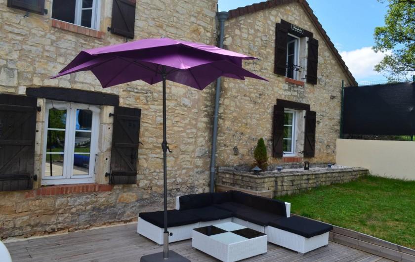 Location de vacances - Villa à Catus - Coin apéro extérieur