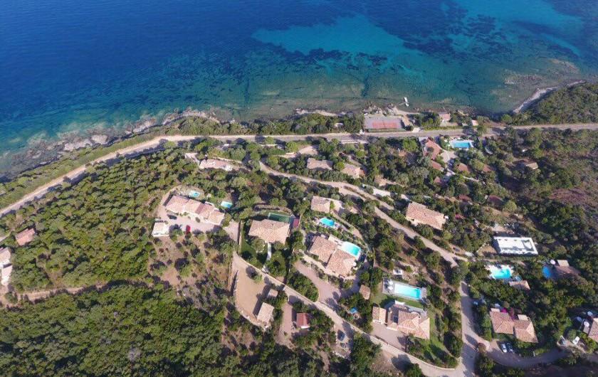 Location de vacances - Villa à Sainte-Lucie de Porto-Vecchio - Vue d'ensemble