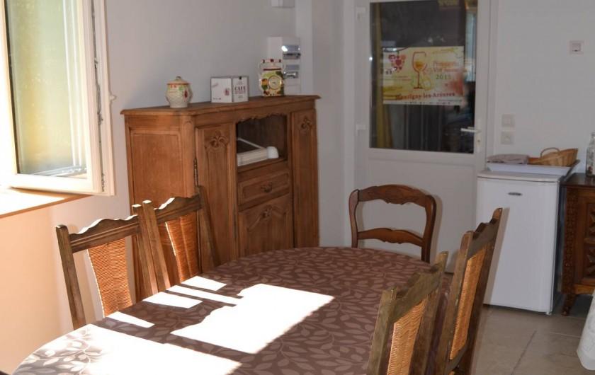 Location de vacances - Chambre d'hôtes à Pupillin - salle petits déjeuners