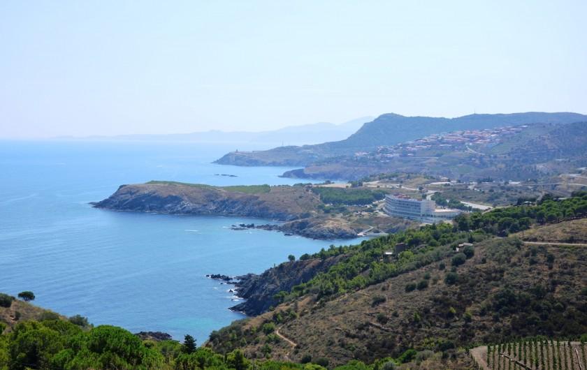 Location de vacances - Appartement à Cerbère - Vue Espagne