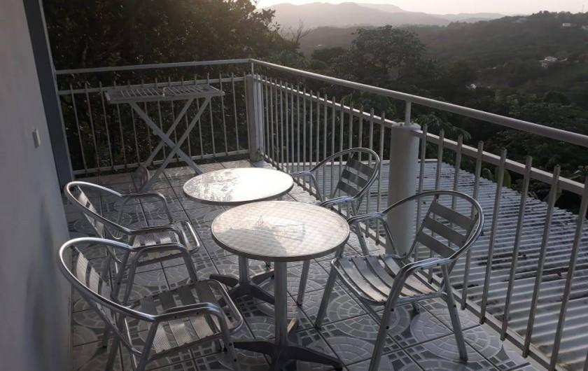 Location de vacances - Gîte à Sainte-Luce - Terrasse TROPICAL