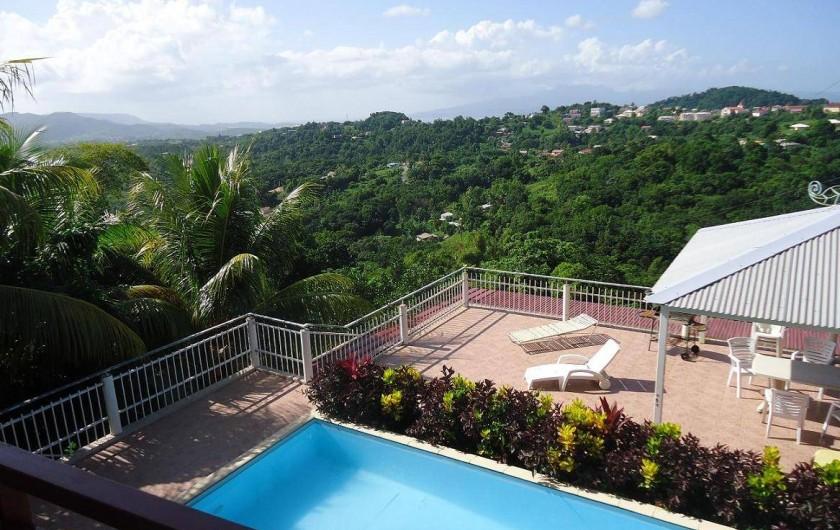 Location de vacances - Gîte à Sainte-Luce - LA Piscine et sa terrasse