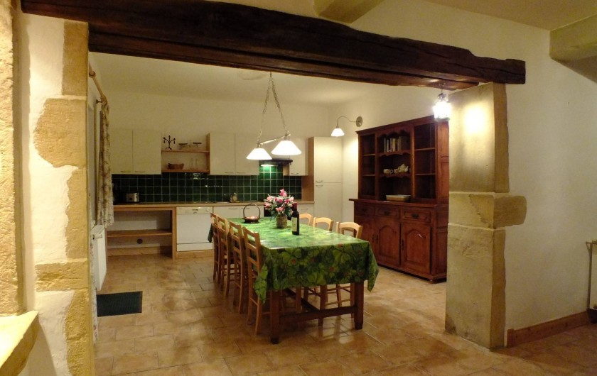 Location de vacances - Gîte à Saint-Bonnet-de-Cray - Salle à manger