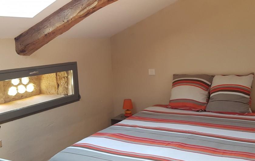 Location de vacances - Gîte à Saint-Antonin-Noble-Val - chambre double lit 160x200