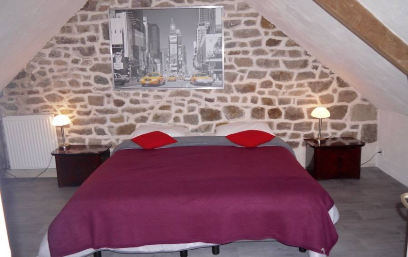 Location de vacances - Gîte à Bécherel - Chambre 1 avec lit double 180 ou 2x90