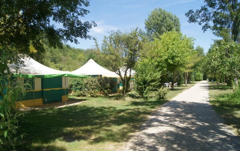 Location de vacances - Camping à Damiatte - Les chalets toile