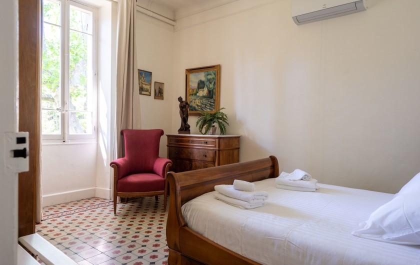Location de vacances - Mas à Saint-Rémy-de-Provence - Chambre avec lit 160/200 (1 er étage)