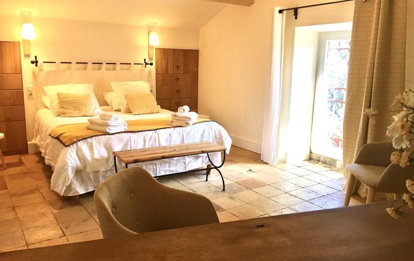 Location de vacances - Mas à Saint-Rémy-de-Provence - Une chambre avec lit 160/200 au 2eme étage du mas des pampres
