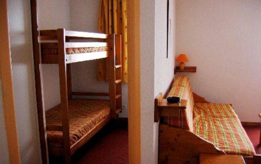 Location de vacances - Appartement à Le Corbier - Chambre 2 avec 2 lits superposés