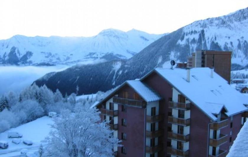 Location de vacances - Appartement à Le Corbier - Vue du balcon