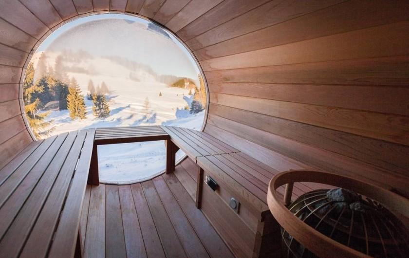 Location de vacances - Chalet à La Pesse - Sauna panoramique