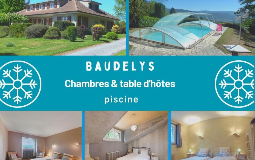 Location de vacances - Chambre d'hôtes à Pont-de-Larn - La maison dispose de 3 chambres d'hôtes dont une chambre famille (5 pers).