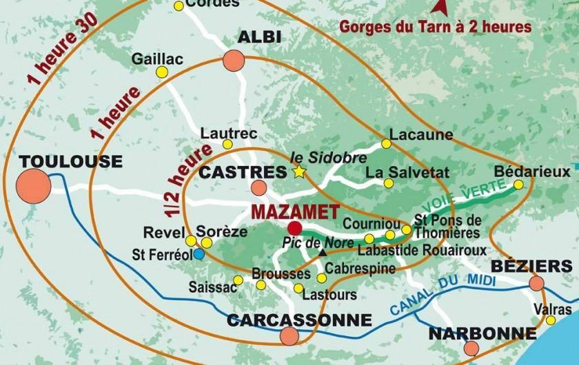 Location de vacances - Chambre d'hôtes à Pont-de-Larn - Situation géographique