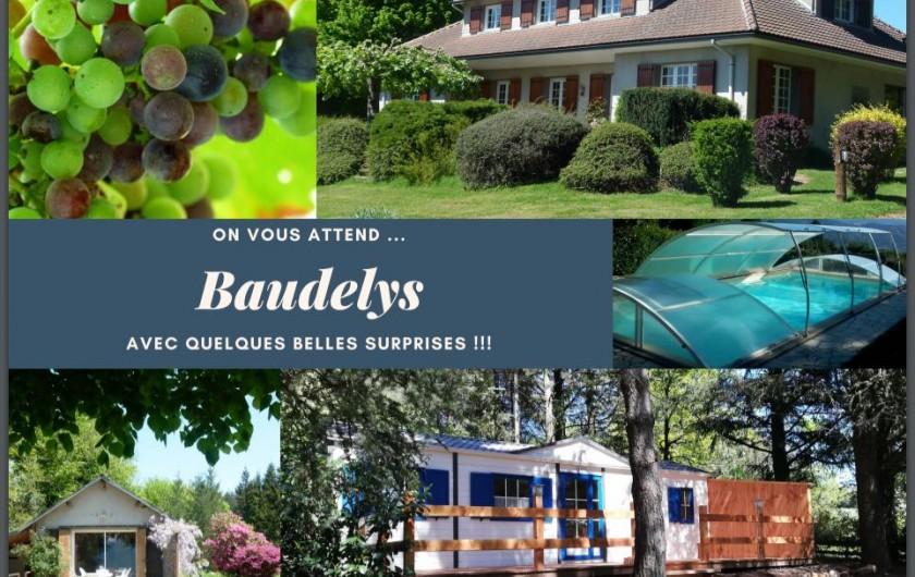 """Location de vacances - Chambre d'hôtes à Pont-de-Larn - La chambre """"Marine"""", 2 lits simples, salle de douche privée."""