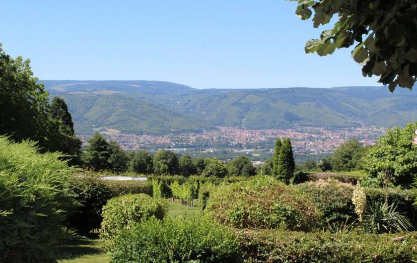 Location de vacances - Chambre d'hôtes à Pont-de-Larn - La vue depuis la terrasse !