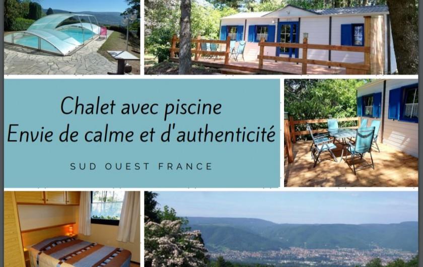 Location de vacances - Chambre d'hôtes à Pont-de-Larn - Sur la propriété de 3 hectares, nous disposons aussi d'un chalet.