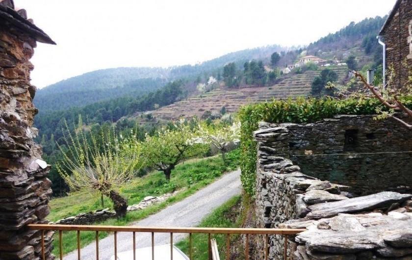 Location de vacances - Gîte à Malbosc - vue de la terrasse