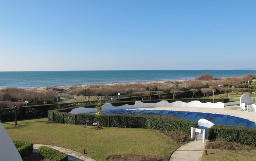 Location de vacances - Appartement à La Grande-Motte - Vue mer, orientation sud, sud-ouest